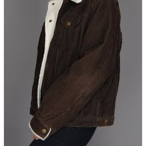 Marvin Richards Brown Corduroy Sherpa Jacket M
